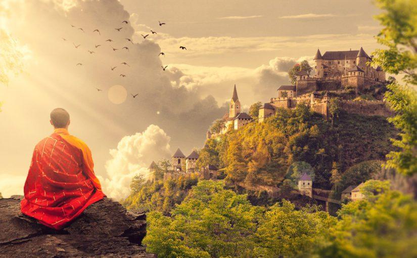 Meditation mit Würfeln und Bleistift