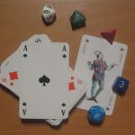 Karten und Würfel für Savage Worlds